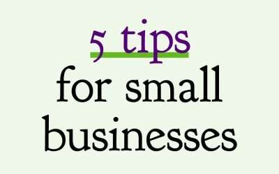 5 tips for small businesses to kick start your marketing